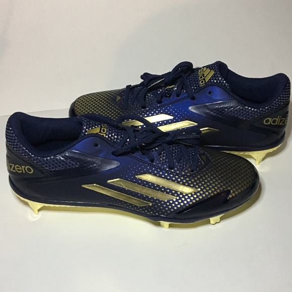 the latest 7ade2 3fb2a Adidas Adizero Baseball Cleats NavyGold 9.5 NWT